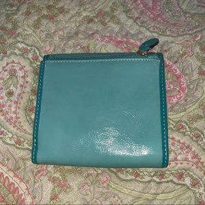 Coach Bags - COACH trifold wallet in teal